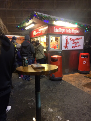 The best late night snack in Iceland is the best hot dog in Reykjavik at Bæjarins Beztu Pylsur