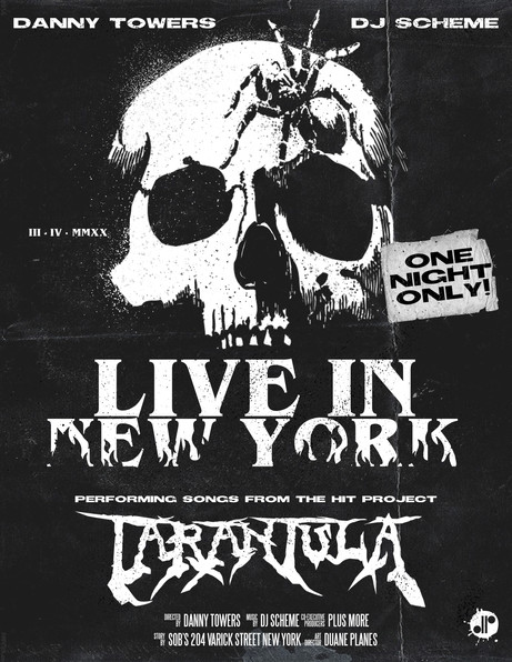 Danny Towers & DJ Scheme Live in NY Flyer