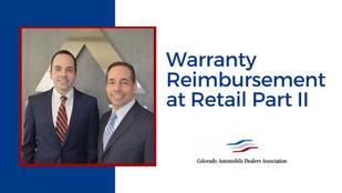 Warranty Reimbursement at Retail Part II