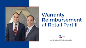 Warranty Reimbursement at Retail Part II