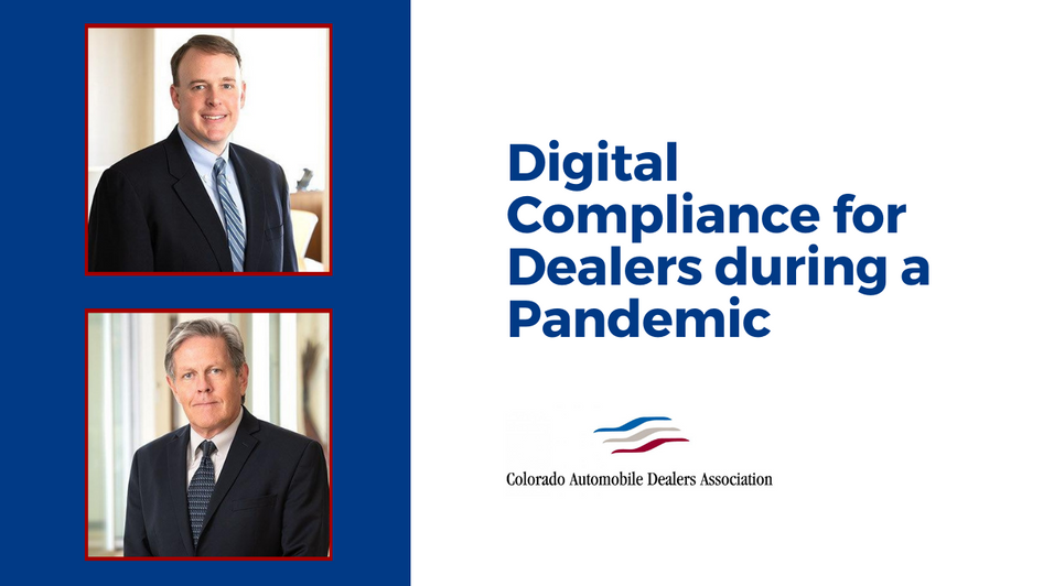 Digital Compliance for Dealers during a