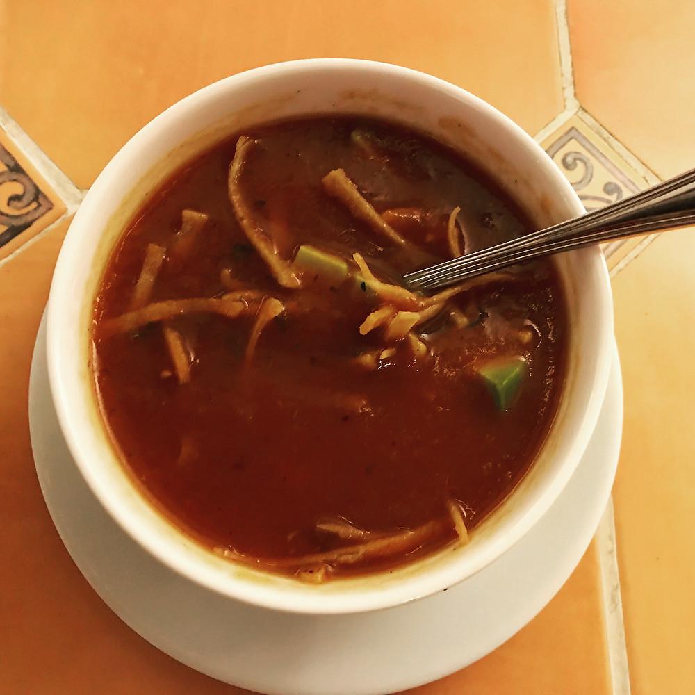 Sopa Azteca sin crema