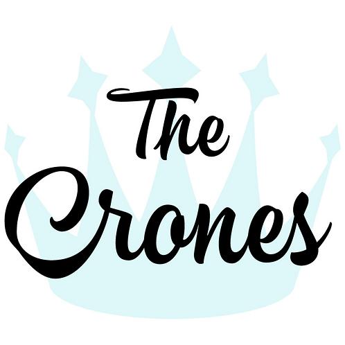 "The Crones logo 1.5"" pin"