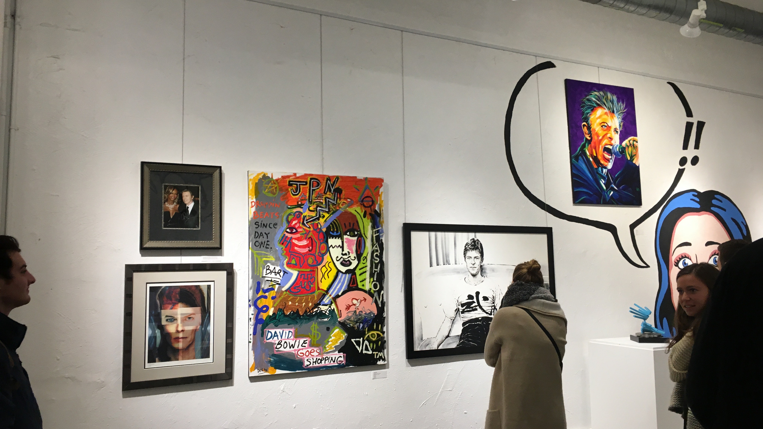 Opening art show Philly Loves Bowie