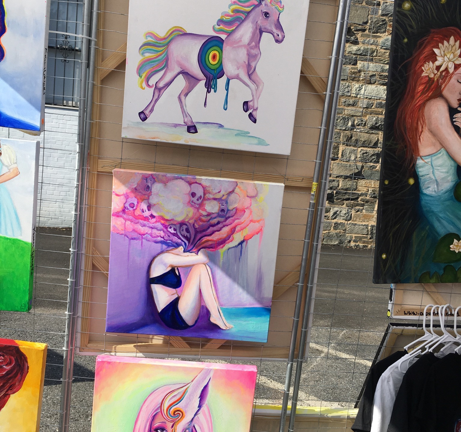 Krissy Whiski Krissy Whiski Art Show tent craft fair booth fine art beautiful