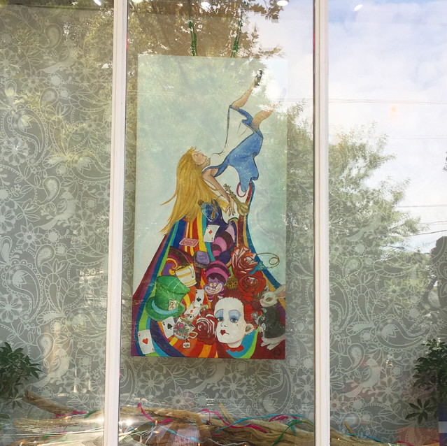 Alice in Wonderland Painting at Prop