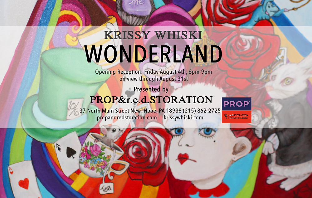 Krissy Whiski Wonderland Solo Exhibition in New Hope PA