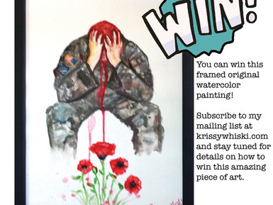 Win This Painting & Support Mental Health Resources with My Mentor Rocks