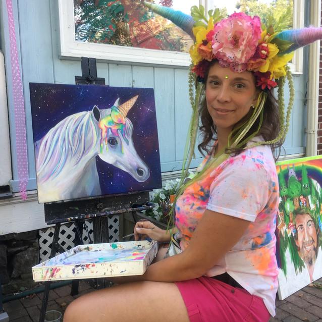 Sidewalk painting Live in New Hope
