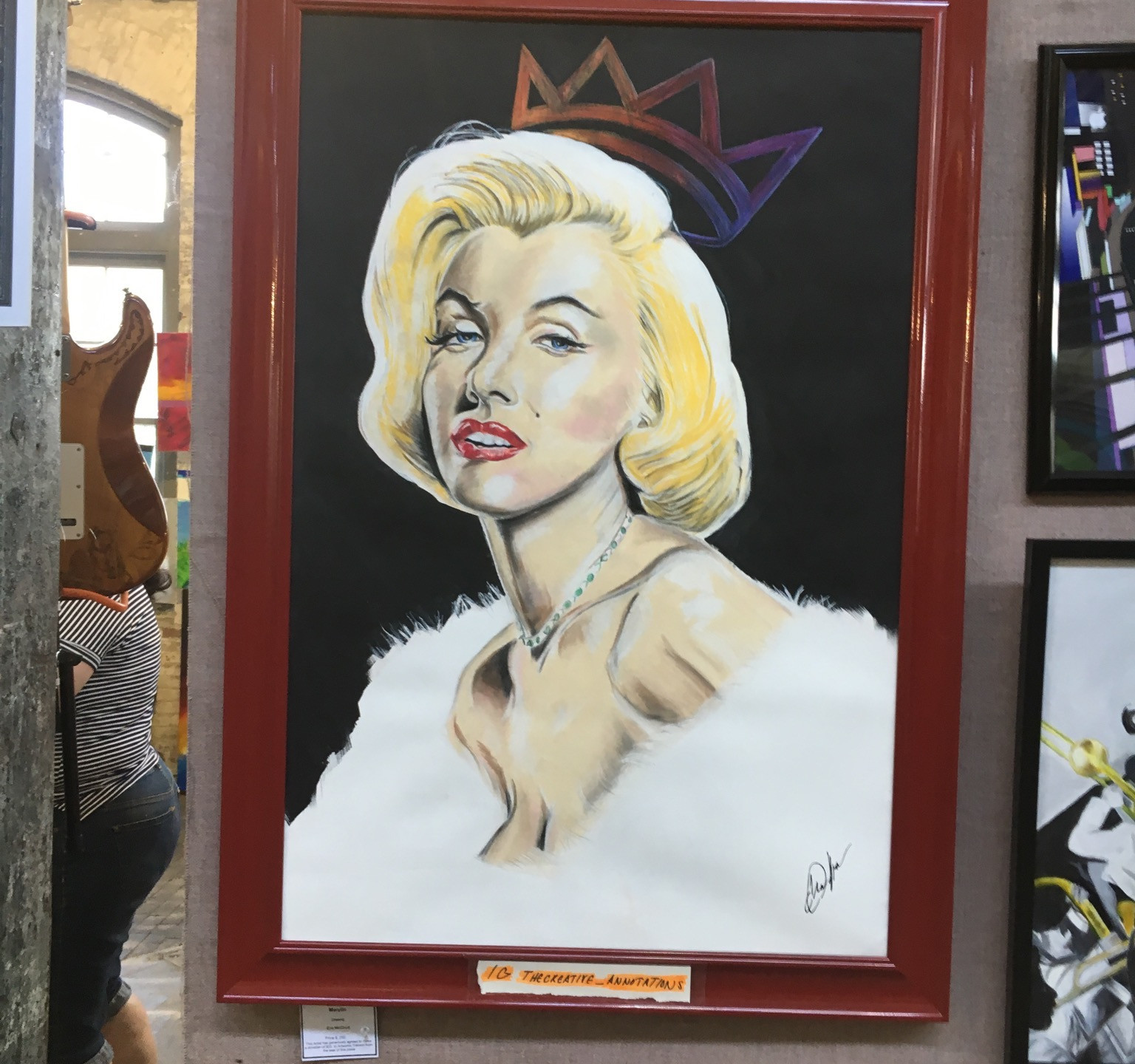 Marylin Monroe gets crowned at Art All Night Trenton 2016