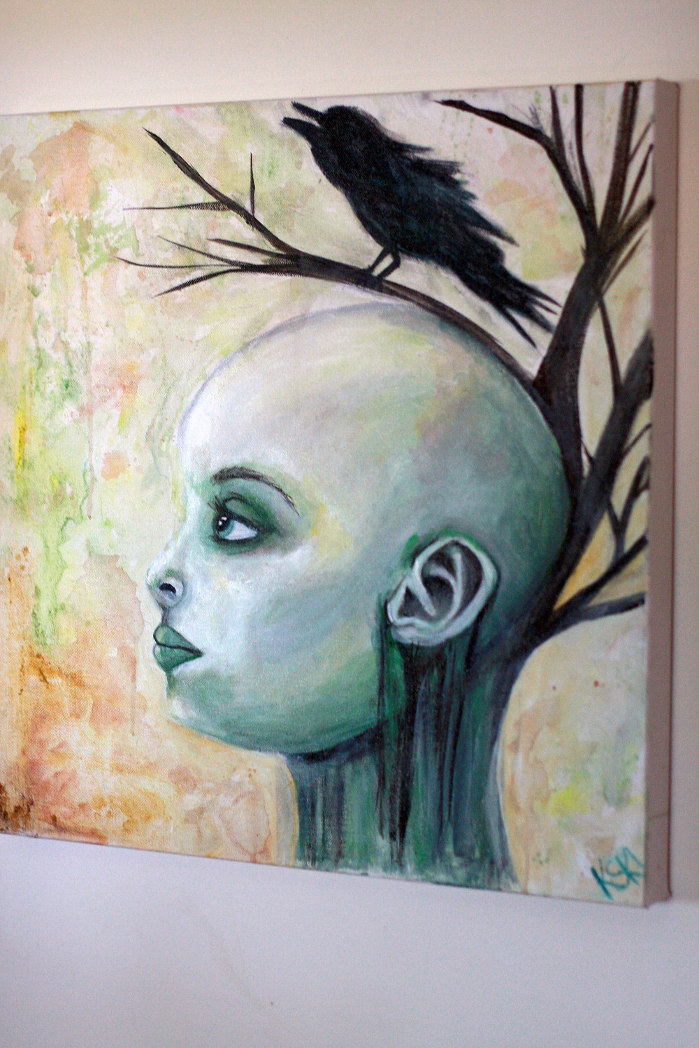 Branched Thoughts, original painting by Krissy Whiski