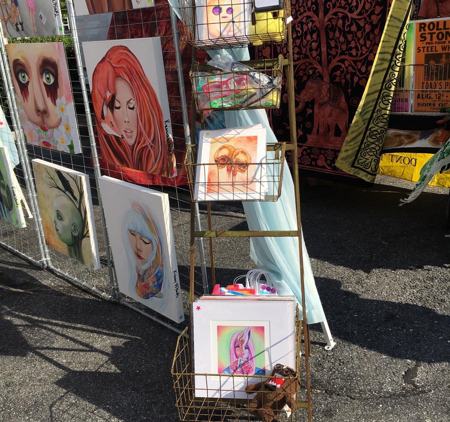 Krissy Whiski Art Show tent craft fair booth how to prepare for a trade show craft art fair