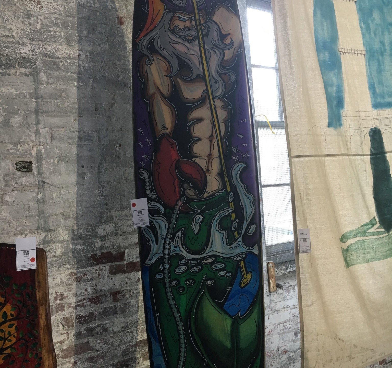 Art on a surfboard at Art All Night 2016