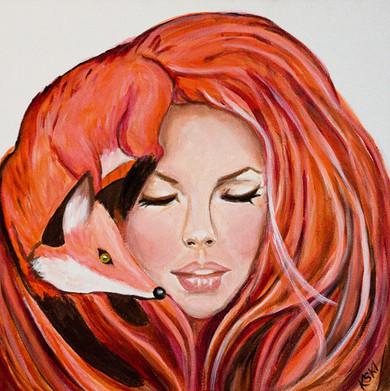 Foxy Lady Jimi Hendrix inspired painting Krissy Whiski popsurrealism art paintings