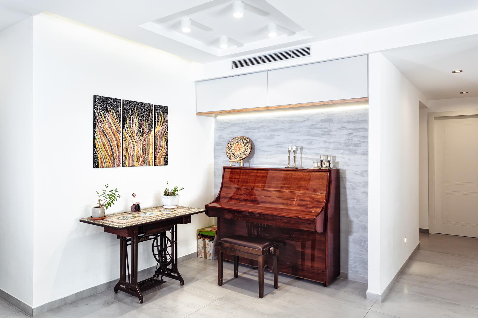 עיצוב בסגנון חם, פינת פסנתר