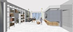 חדר מגורים, דירת 5 חדרים, כפר גנים ג