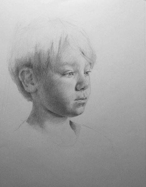7, 14x11 graphite on paper