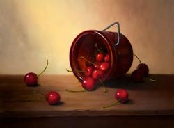 Cherries 12x16 Oil on panel