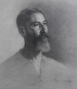 Santiago 19x16, graphite on paper