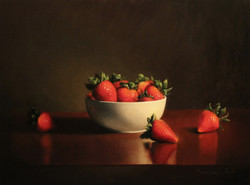 Strawberries, 12x16 Oil on panel