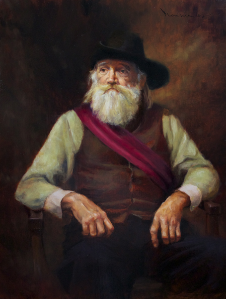 The Red Sash 30x24 Oil on Panel