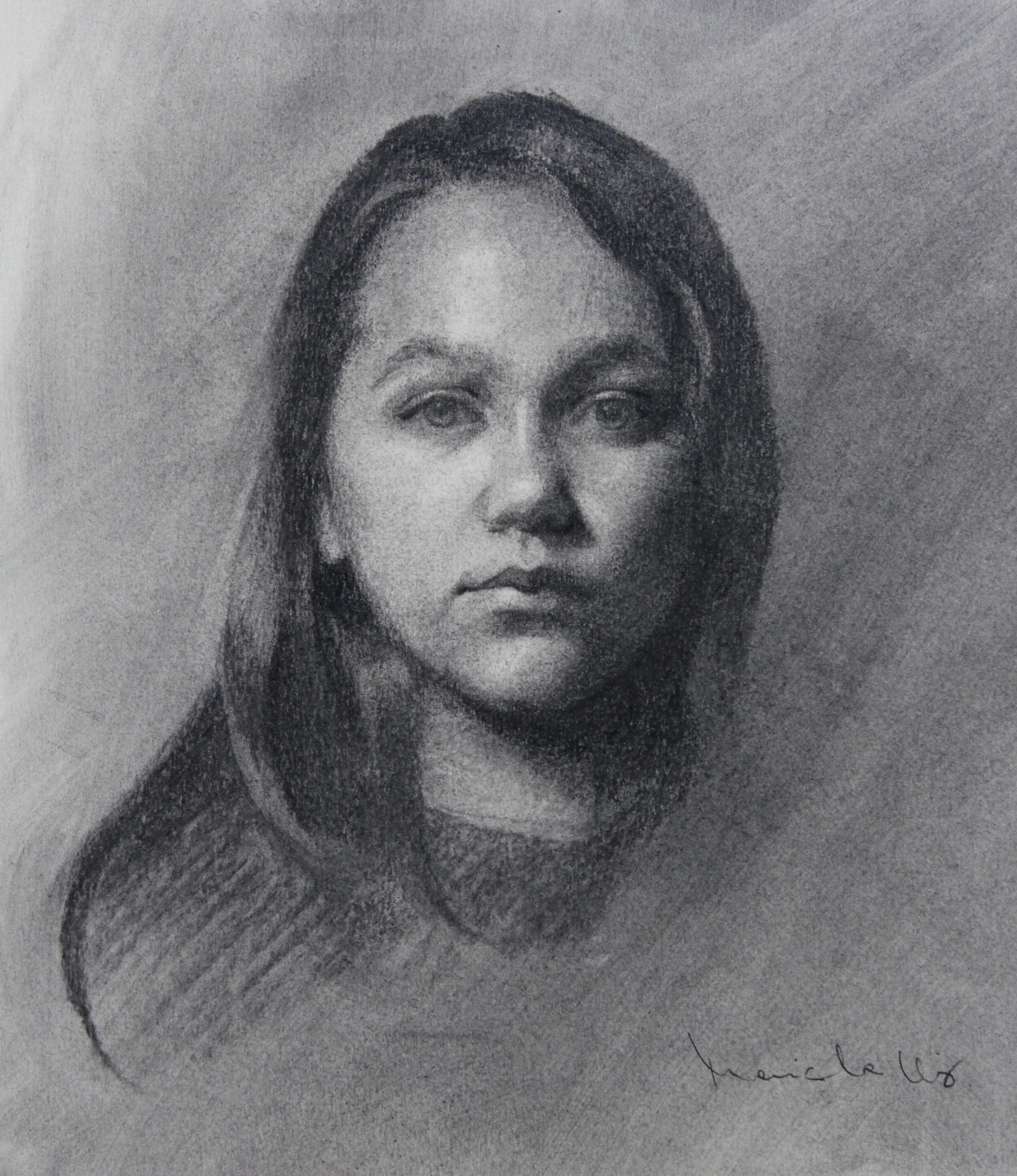 Study for Time 12x10 charcoal
