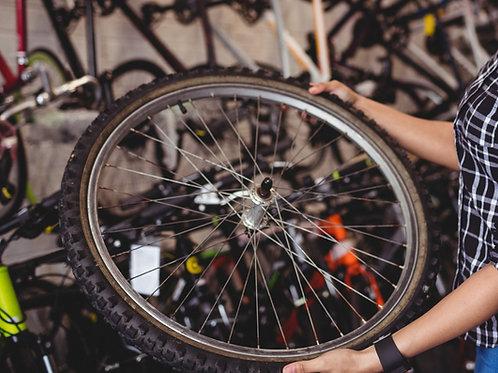 Remplacement d'un pneu anti-crevaison