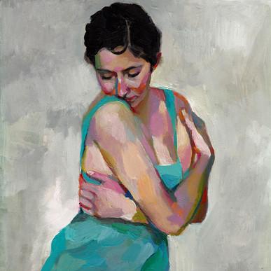 Dancer on grey