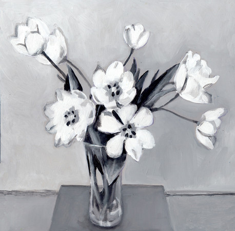 Flower bouqet black & white