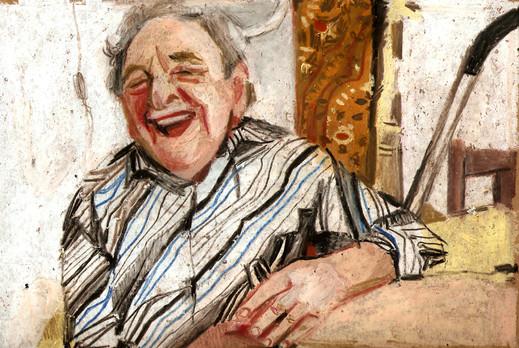 Grandfather laugh