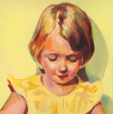 Little girl in yellow