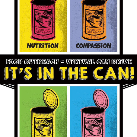 Join Our Canned Food Drive! #ItsIntheCan2020