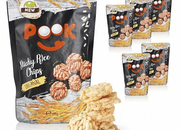 POOK Sticky Rice Chips - Original - 6er-Set
