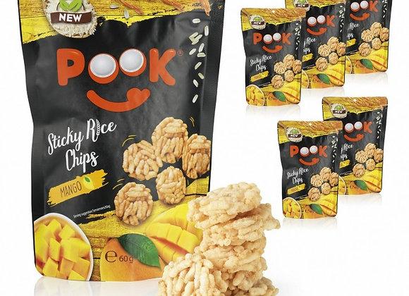 POOK Sticky Rice Chips - Mango - 6er-Set