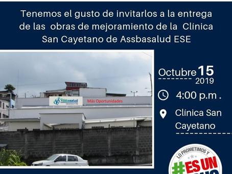 Entrega Obras de Mejoramiento Clínica San Cayetano
