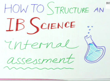 How to structure a Group 4/Science Internal Assessment (IB)