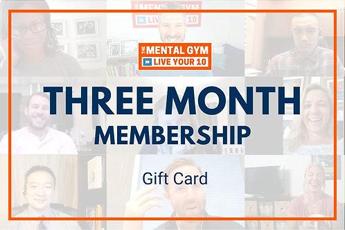 Gift Card - Three Month Membership