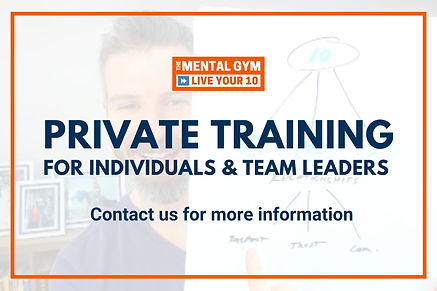 Private Training for individuals and tea