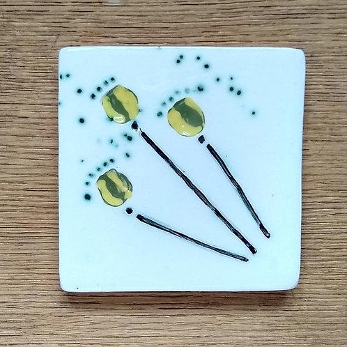 Poppy Head Imprint Coaster