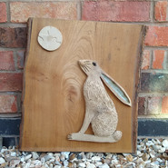 The Hare and the Moon - Mixed Media £245