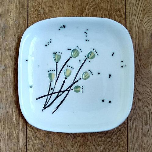 Poppy Seedhead Square Platter