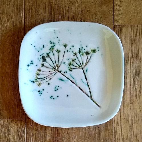 Fennel Seedhead Square Platter