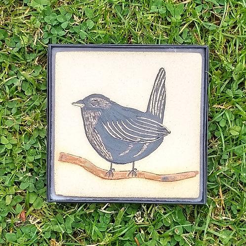 Jenny Wren stoneware plaque
