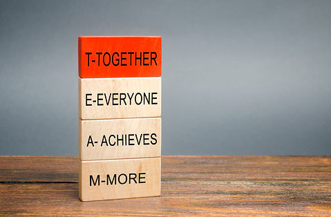 Wooden blocks with the word Together, Ev