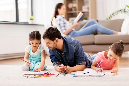 family, fatherhood and leisure concept -
