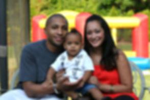 African American Latin Family at kids bi