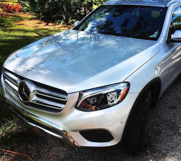 Mercedes Serviced with a Basic Detail In Palm City, Florida