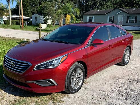 Wash and Wax Auto Detail on 2014 Hyundai Sonata, in Stuart, Florida