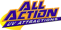All Action UV Attractions Logo