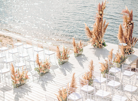 Trendy Beach Wedding Ceremony Inspirations